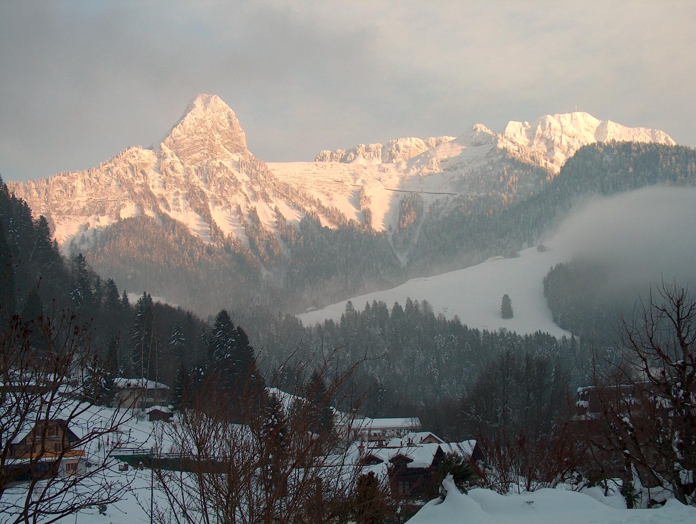 La vue de ma chambre en Suisse