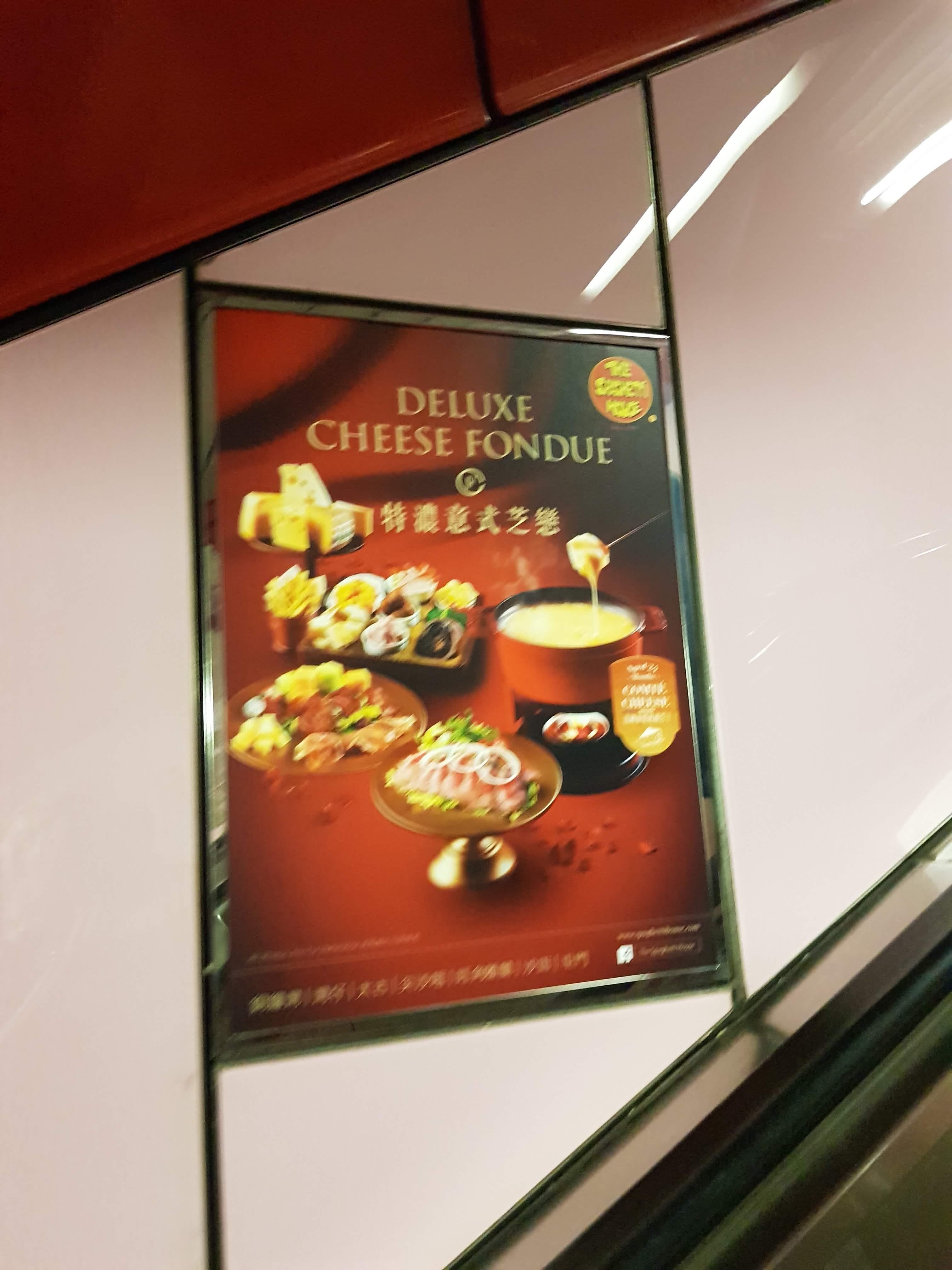 Un resto hongkongais proposait un set de fondue. On a pas goûté...